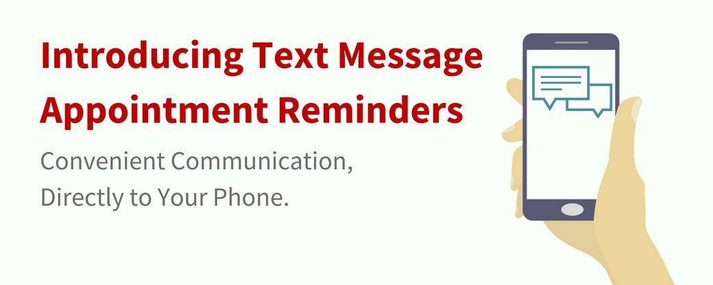Introducing text message appointment reminders